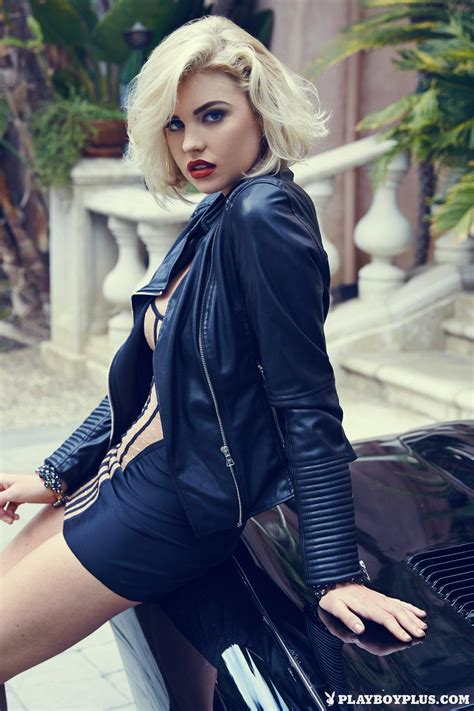 Kayslee Collins Does Playboy Shoot in Jaguar E-Type Coupe